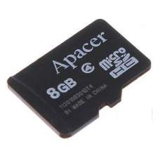 Карта памяти Apacer 8 GB microSDHC Class 4 AP8GMCSH4-RA