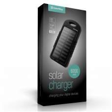 Power Bank ColorWay Solar 6000 mAh Black (CW-PB060LPA2BK-SF)