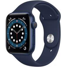 APPLE Watch 6 44mm Blue Aluminum Case with Deep Navy Sport Band