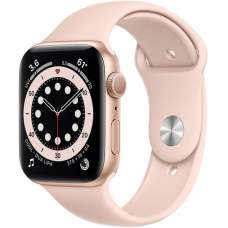 APPLE Watch 6 44mm Gold Aluminum Case with Pink Sand Sport Band