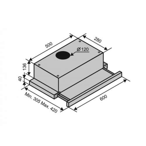 Вытяжка VENTOLUX GARDA 60 WH (620) SLIM