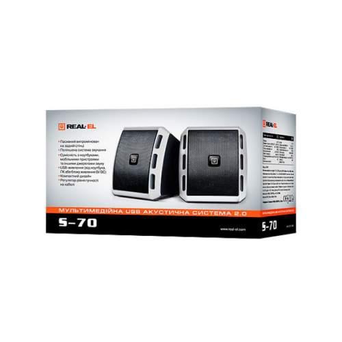 Акустическая система 2.0 REAL-EL S-70 Black