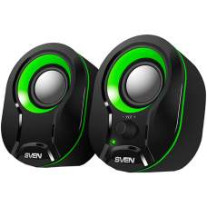 Акустична система 2.0 SVEN 290 Black/Green