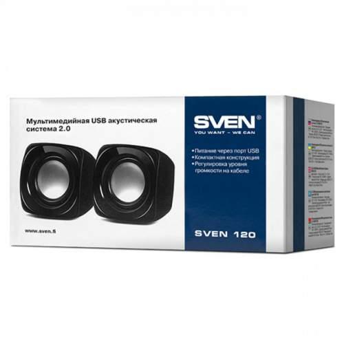 Акустическая система 2.0 SVEN 120 Black