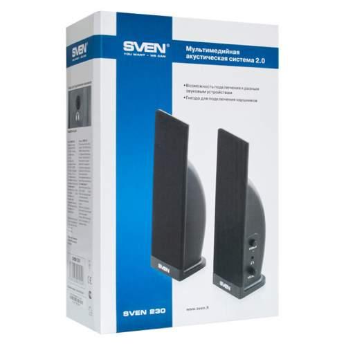 Акустическая система 2.0 SVEN 230 Black