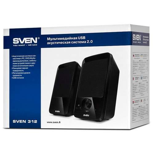 Акустическая система 2.0 SVEN 312 Black