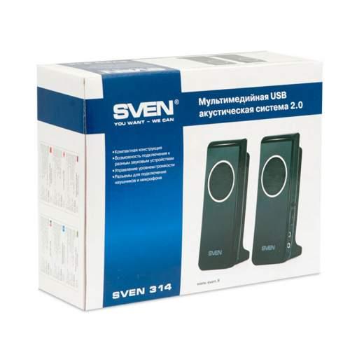 Акустическая система 2.0 SVEN 314 Black