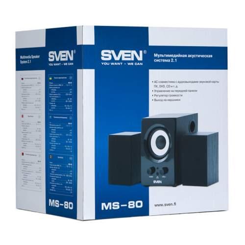 Акустическая система 2.1 SVEN MS-80 Black