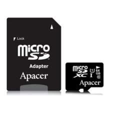 Карта памяти Apacer 64 GB microSDXC Class 10 UHS-I + SD adapter AP64GMCSX10U1-R
