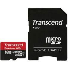 Карта памяти Transcend 16 GB microSDHC UHS-I Premium + SD Adapter TS16GUSDU1