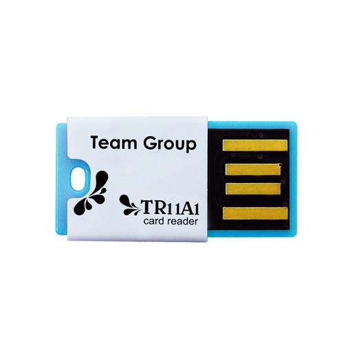 Картридер TEAM microSD-USB TR11A1 Blue