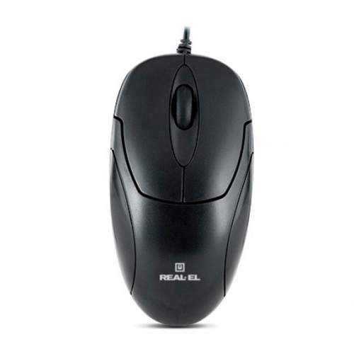 Мышка REAL-EL RM-212 USB Black