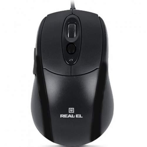 Мышка REAL-EL RM-290 USB Black