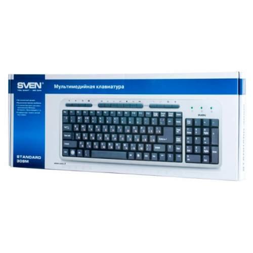 Клавиатура SVEN 309M Standart Silver USB