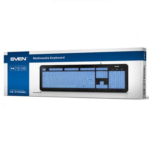 Клавиатура SVEN KB-C7300EL Black USB