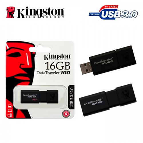 Флешка USB3.0 KINGSTON DT100 G3 16Gb