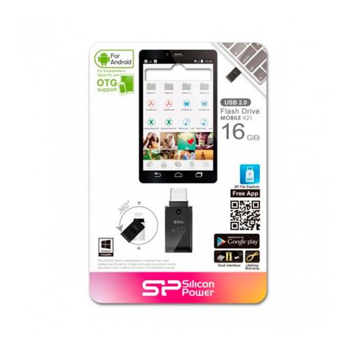 Флешка USB2.0 SiliconPower X21 OTG 16Gb