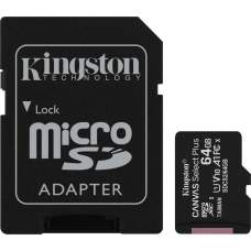 Карта памяти Kingston 64 GB microSDXC Class 10 UHS-I Canvas Select Plus + SD Adapter SDCS2/64GB