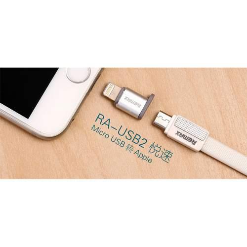 Переходник REMAX microUSB-lightning RA-USB2
