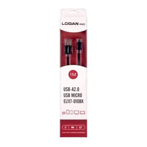 USB-microUSB LOGAN EL117-010BK