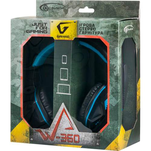 Наушники GEMIX W-360 Gaming Black-Blue