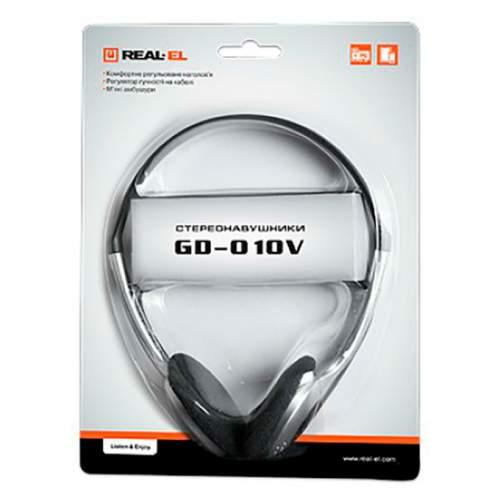 Наушники REAL-EL GD-010V Black