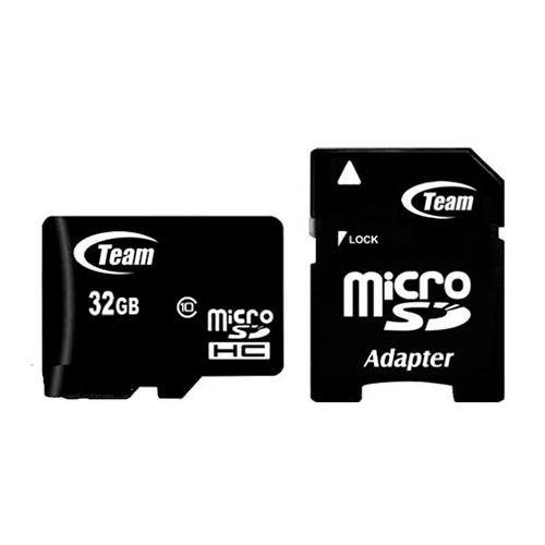 Карта памяти microSD TEAM 32Gb (10)+Ad