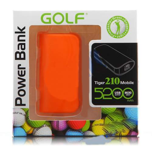 Power Bank GOLF GF-210 5200mAh Orange