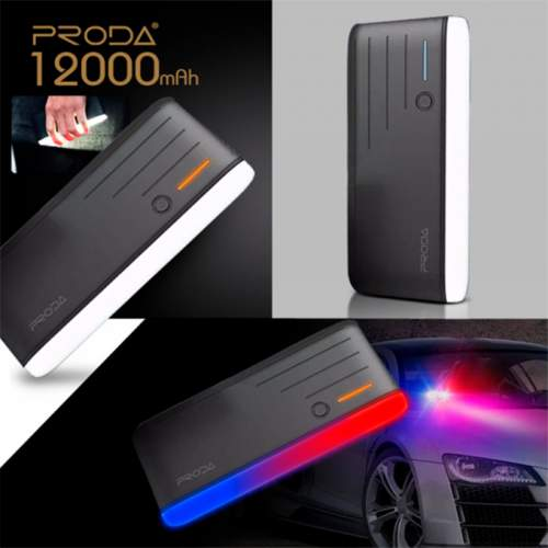 Power Bank Time PRODA PPL-19 12000mAh+Police