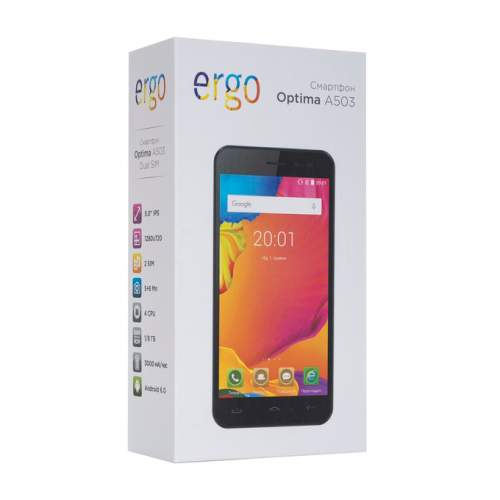 Смартфон ERGO A503 Optima Black