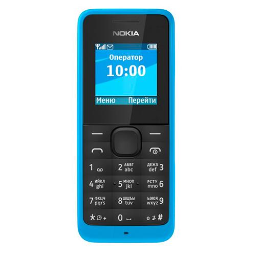 Мобильный телефон NOKIA 105 DS Cyan