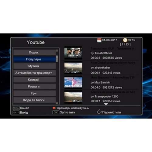 ТВ ресивер DVB-T2 WORLDVISION T62N