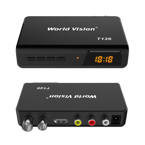 ТВ ресивер DVB-T2 WORLD VISION T126