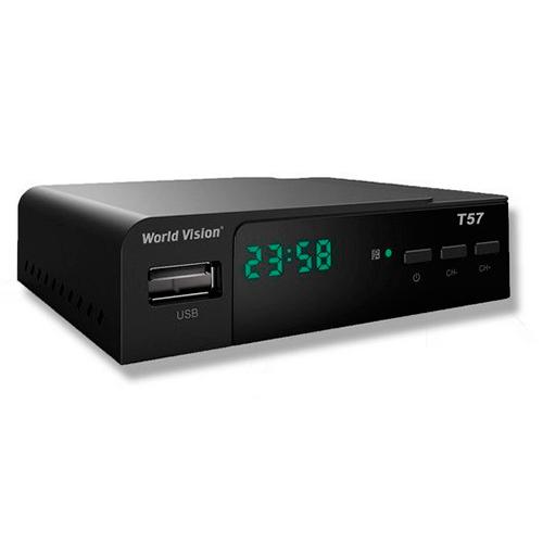 ТВ ресивер DVB-T2 WORLD VISION T57D