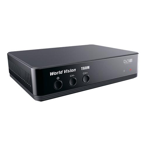 ТВ ресивер DVB-T2 WORLD VISION T60M